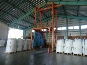 Equipment for repacking cargoes